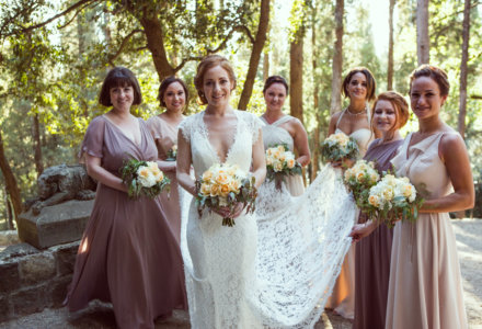 Kelly and Brad's Dreamy Castle Wedding in Tuscany