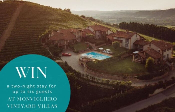 Win a two-night stay at one of Italy's stunning villas - MONVIGLIERO VINEYARD VILLAS