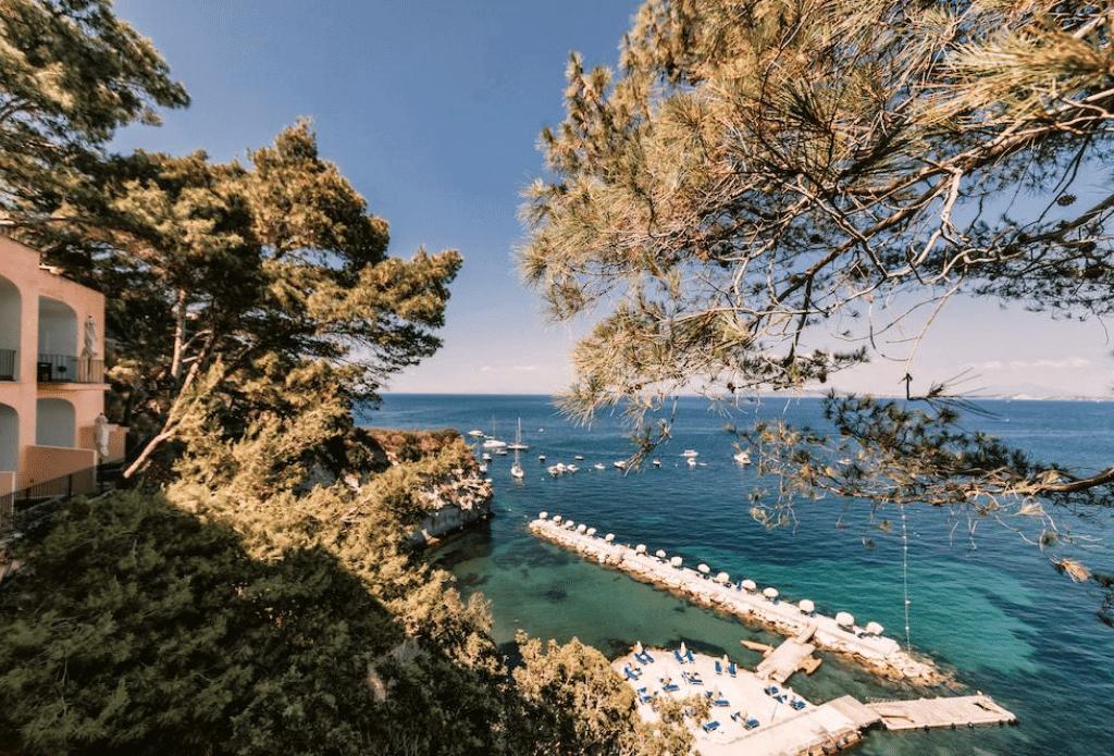 sea view of ischia