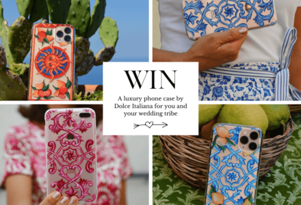 Win a luxury hand-painted artisanal phone case for you and your bridesmaids