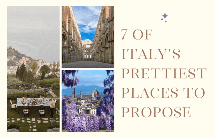 7 Of Italy's Prettiest Places To Propose