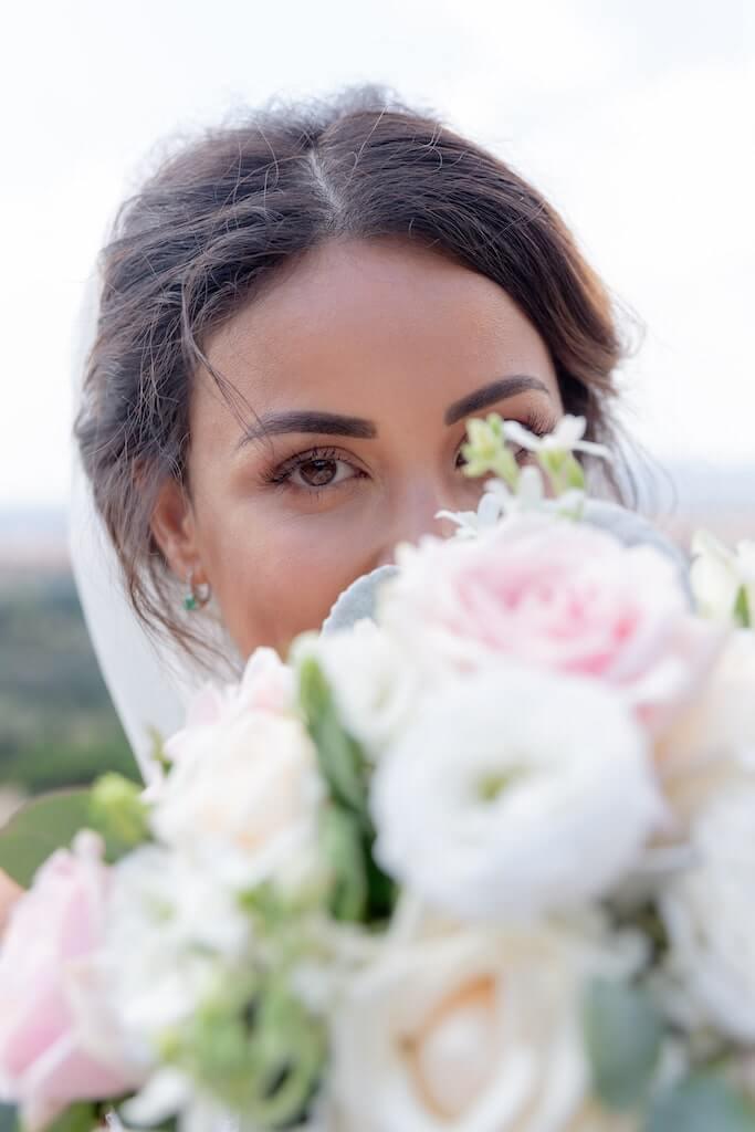 Bride in Tuscany, Italy