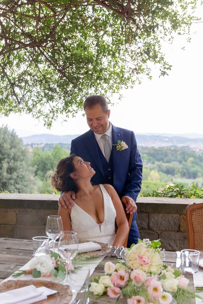 Bride & Groom in Tuscany, Italy
