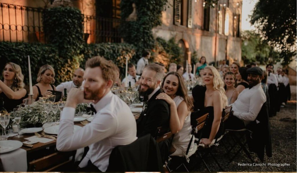 Wedding guests in Italy