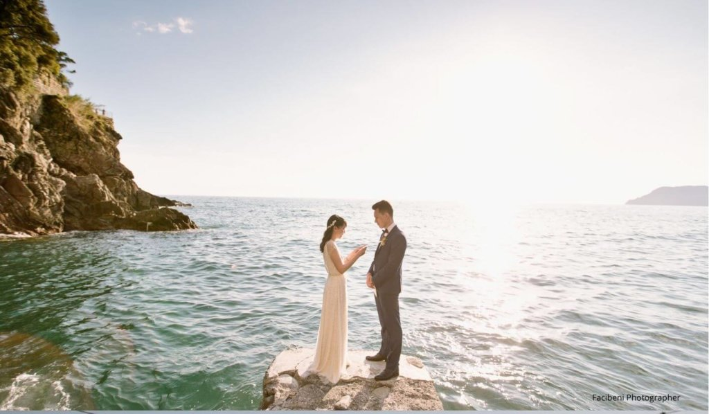 Bride and Groom during Photoshoot in Italy