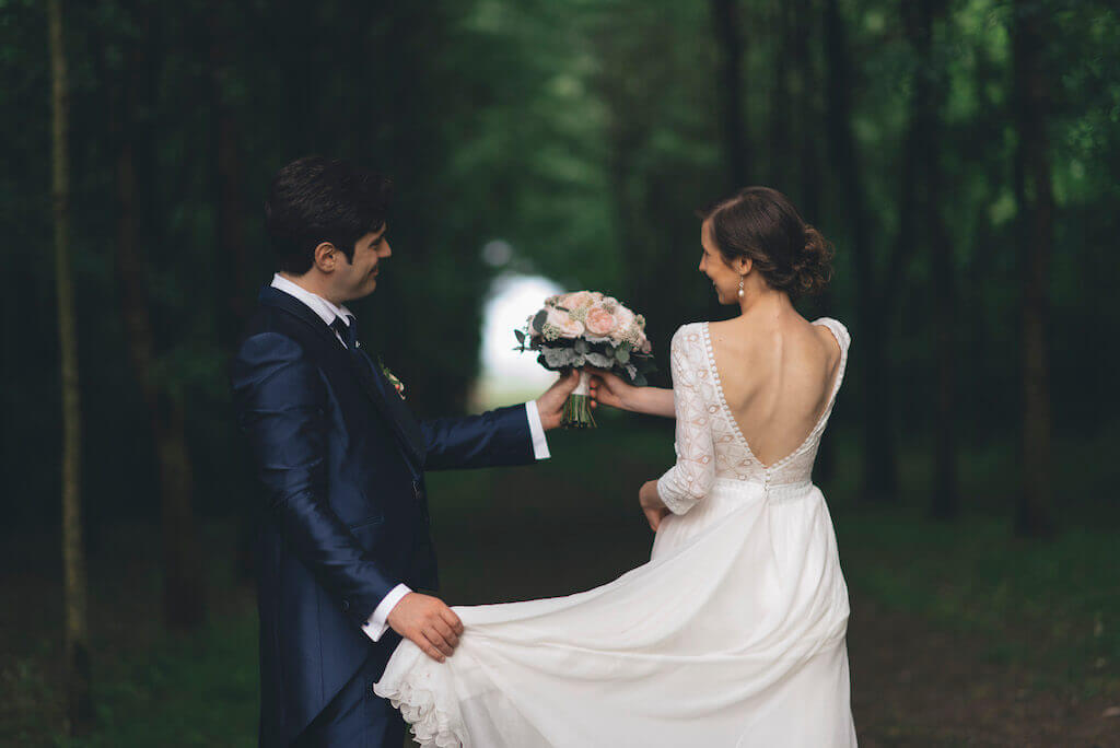 Bride and groom in Veneto